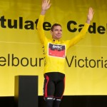Cadel banner at Fed Square