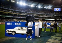 Custom made giant pods for Ford's anniversary at the MCG