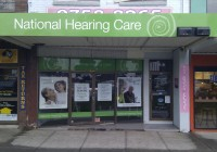 National Hearing Centre building and window signage