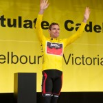Banners for Cadel Evans welcome