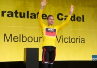 Cadel Evans welcome to Melbourne banners