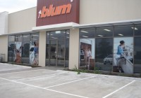 Blum building and window signage