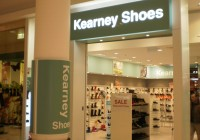 Kearney Shoes lightbox and shop signage