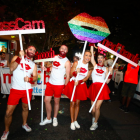 Lollipop Signs and Giant Hashtags for Medibank Mardi Gras
