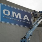 Banner signage for buildings