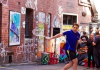Adidas Tennis Stars take over Melbourne Laneway