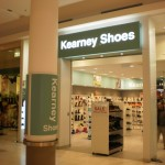 Kearney Shoes - lightbox and shop signage