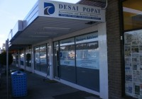 Desai Popat building signage