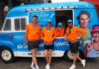 Mr Whippy vehicle graphics wrap for the Australian Open