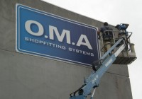 OMA banners for building signage