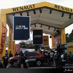 Renault banners at the Grand Prix